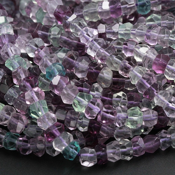"AAA 15/"" 2x4mm Purple Amethyst Faceted Rundelle Gems Beads"