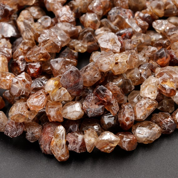 Approx 18x15mm Natural Strawberry Quartz High Quality Freeform Faceted Nuggets Full Strand 16 100/%  No Dye