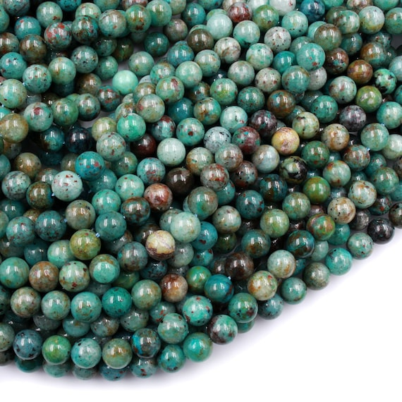 6MM MATRIX TURQUOISE GEMSTONE GREEN WHITE ROUND 6MM LOOSE BEADS 15.5/""