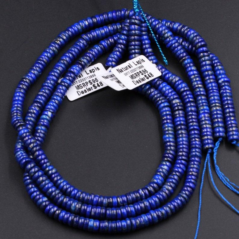 Superior AAA Quality Genuine 100/% Natural Blue Lapis Lazuli Heishi Beads 6mm Disc Rondelle Wheel Beads 16 Strand
