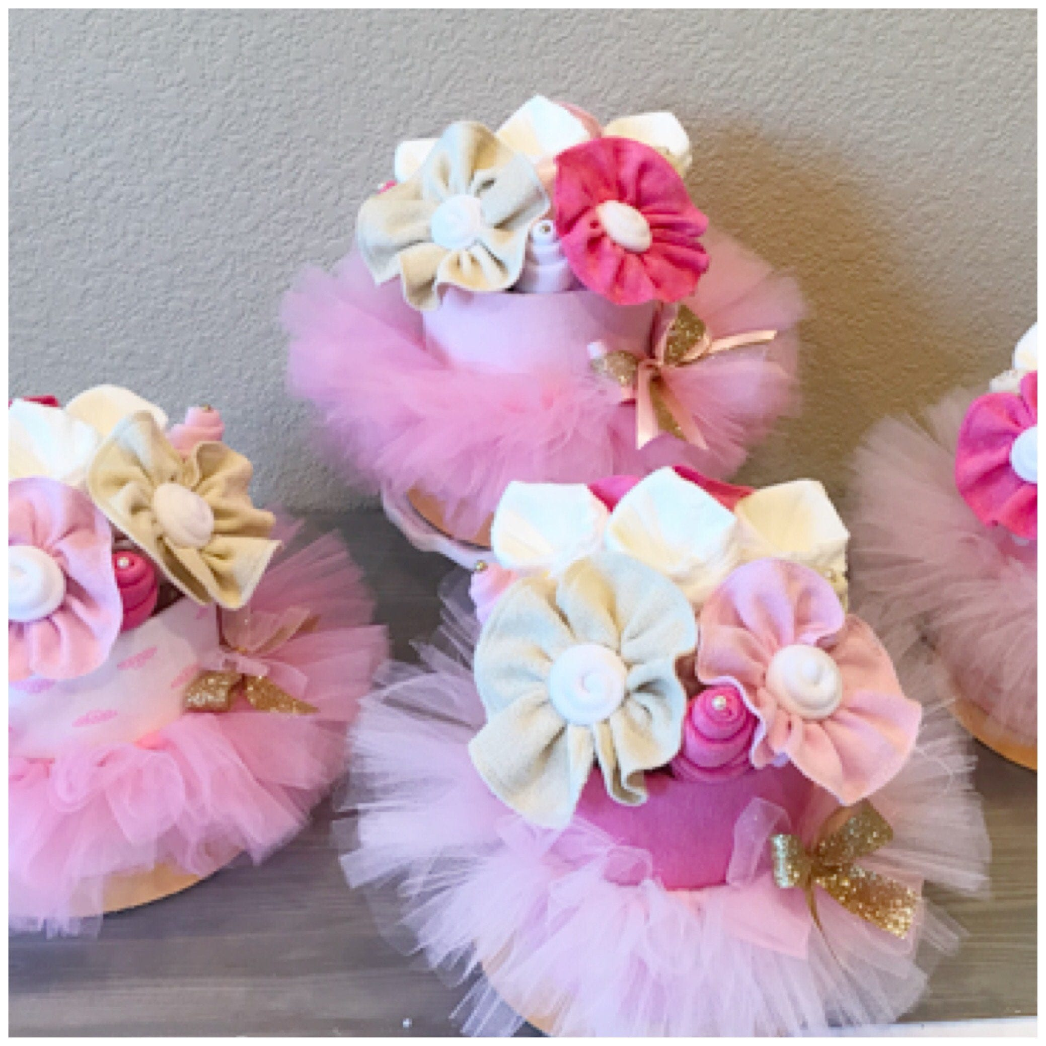 Pink Tutu/Ballerina Baby Shower Centerpieces Pink And Gold