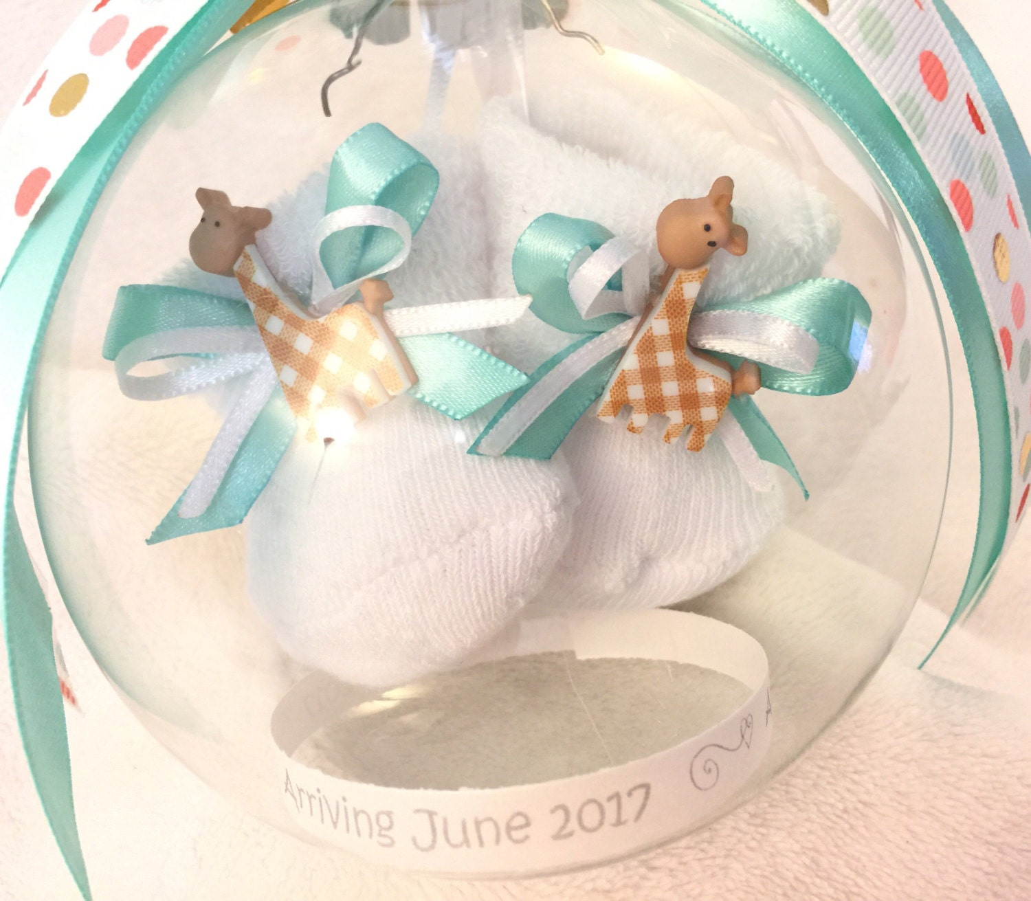 Personalized Pregnancy Announcement  Pregnancy Announcement Keepsake Ornament With Floating