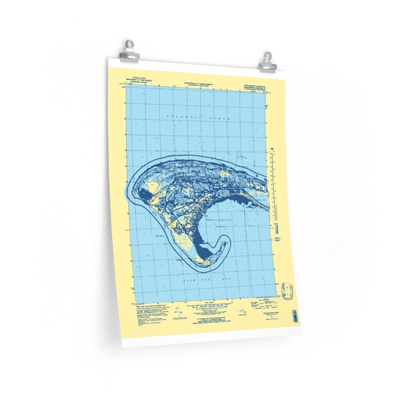 Ptown Map Cape Cod Map Print Various Sizes Available Provincetown Map