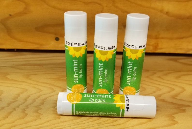 Mint Lip Balm Paraben and Phthalate Free Made in WI Organic image 0