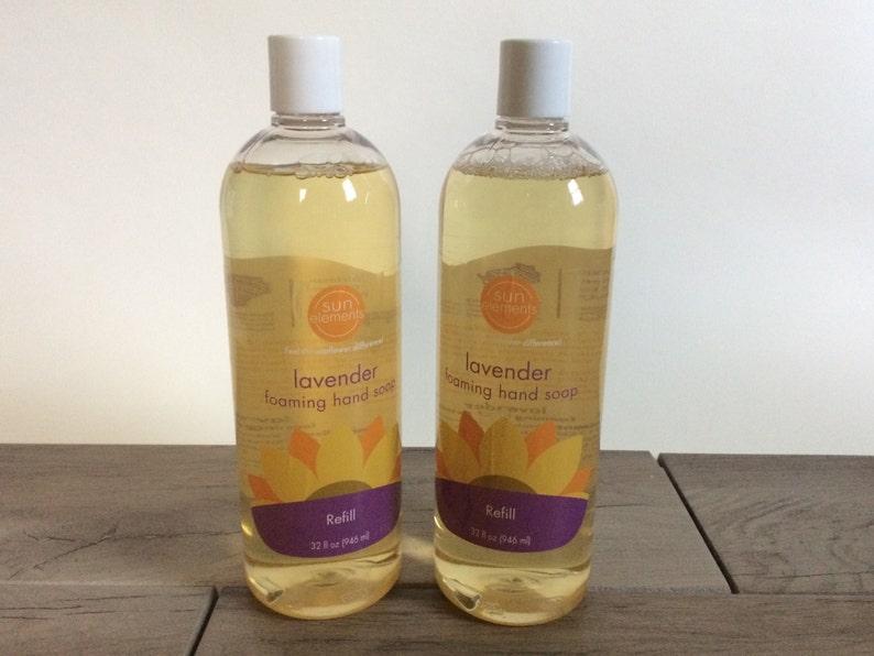 Liquid Foaming Hand Soap Refill Lemongrass or Lavender image 0