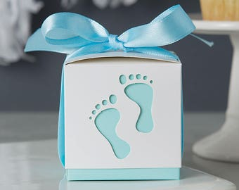 Baby boy favor etsy boy baby shower favor boxes candy boxes 10 pack blue favor box negle Gallery