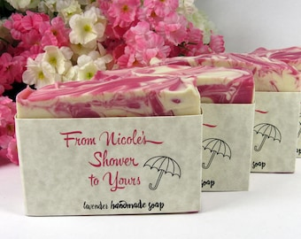 Shower Favors Soap - Any color! - Favors for Baby Shower or Bridal Shower Soap - From My Shower to Yours - Guests - Personalized