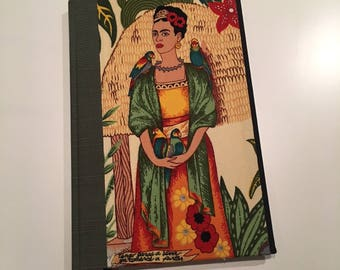 Frida Kahlo Hard Cover Journal: Green