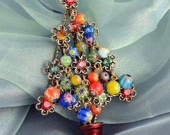Christmas Tree Pin, Christmas Brooch, Christmas Jewelry, Christmas Pins, Holiday Brooch, Holiday Jewelry, Tree Pin, Xmas Tree P185