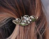 Bridal Barrette, Wedding Barrette, Hair Accessory, Hair Barrette, Hair Clip, Wedding Hair Accessories, Wedding Jewelry, Hair Pin B533