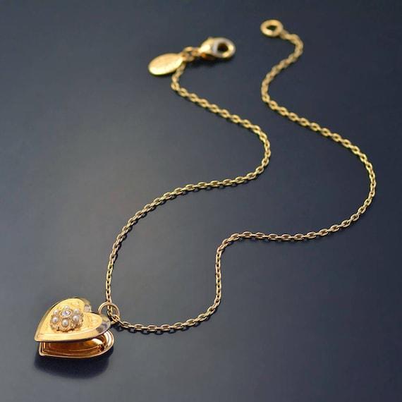 Petite Fleur,Necklace,Lockert Necklace,Flower Necklace,Handemade Locket,Pink Pearl,Pearl Necklace,Girl,Child,Baby,Girl Locket,Pink Necklace