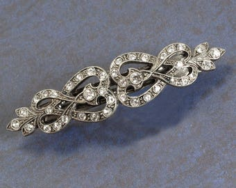 French Knot Barrette, Wedding Barrette, Hair Barrette, Silver Barrette, French Barrette, Bridal Barrette, Barrette, Hair Clip, Barette B523