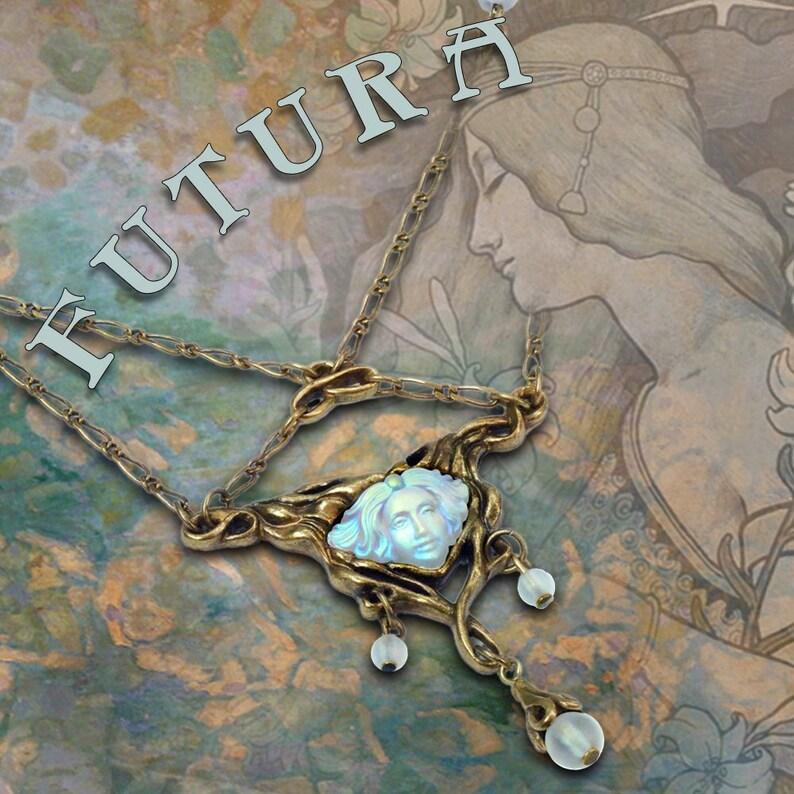 Art Glass Jewelry Art Nouveau Jewelry Futura Necklace Art Nouveau Necklace Art Nouveau Jewelry Vintage Jewelry Belle Epoque N114