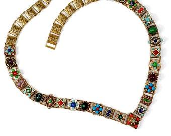 Boho Necklace, Statement Necklace, Boho Jewelry, Tribal Necklace, Bib Necklace, Gypsy Jewelry, Gypsy Necklace, Southwest Necklace N636-SW