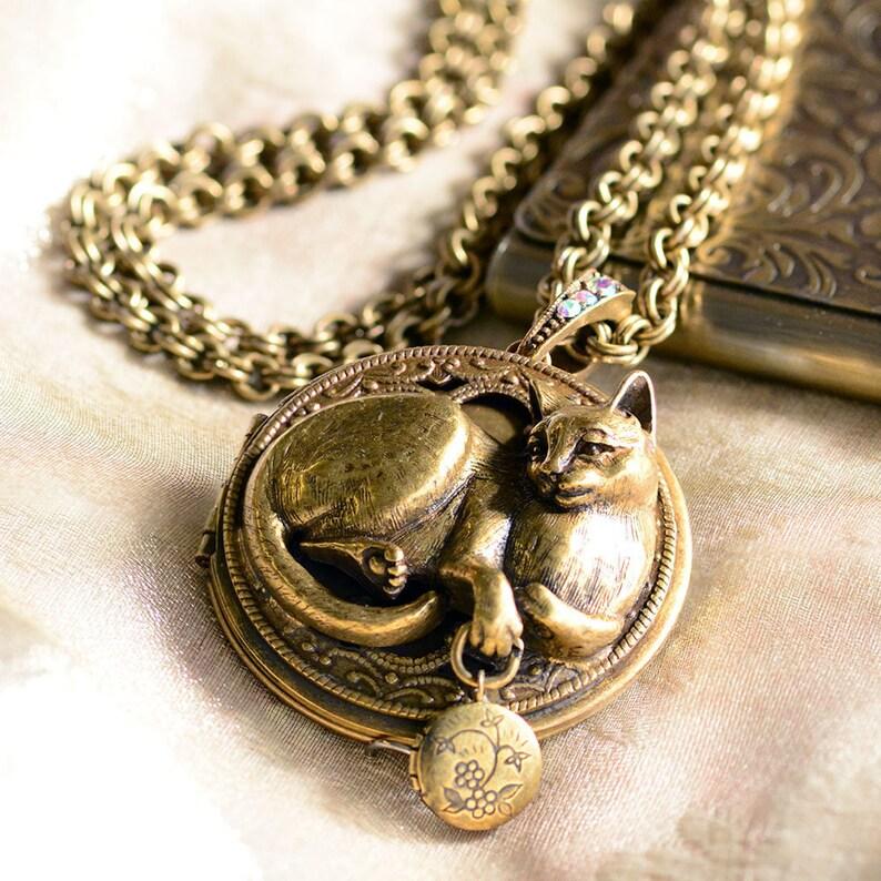 825c52bcf4d2a8 Gatto Ciondolo collana gatto gatto gioielli collana Kitty | Etsy