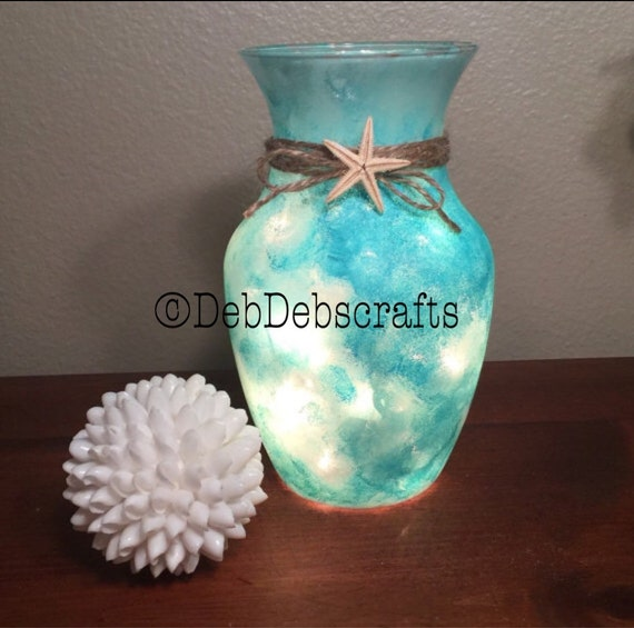 Sea Glass Beach Vase Beach Decor Beach Wedding Centerpieces Etsy