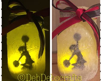 Personalized Cheer gifts Cheerleading gifts Personalized Cheer mason jar night light cheerleader gifts