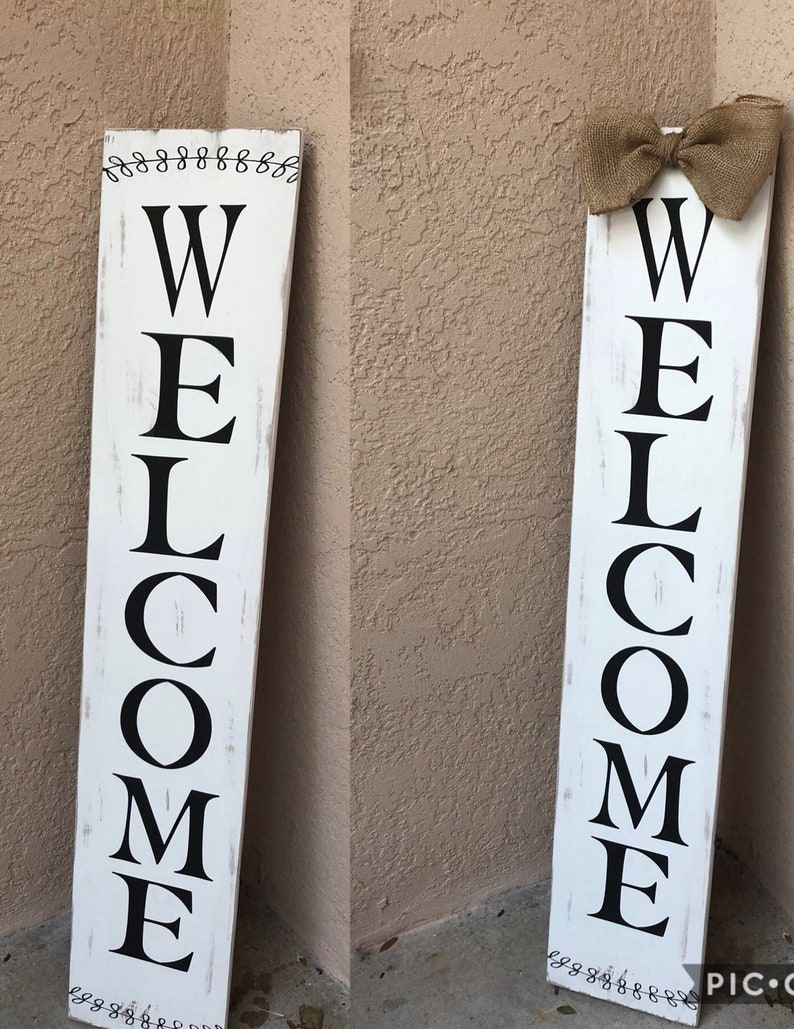 Large Welcome sign for Front porch Front door decor Front porch decor  Welcome sign Wood Front door sign Entryway decor Porch sign