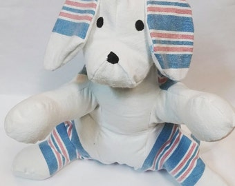 Actual Birth Weight and Length Keepsake Puppy from Hospital Blanket