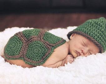 Crochet Turtle Costume