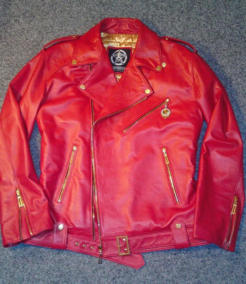 d257f7df7 Red & Greed - Men's leather jacket by Pentagram