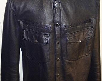Black Star - Men's leather shirt by Pentagram