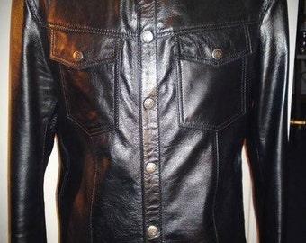 Black Star II - Men's leather shirt by Pentagram