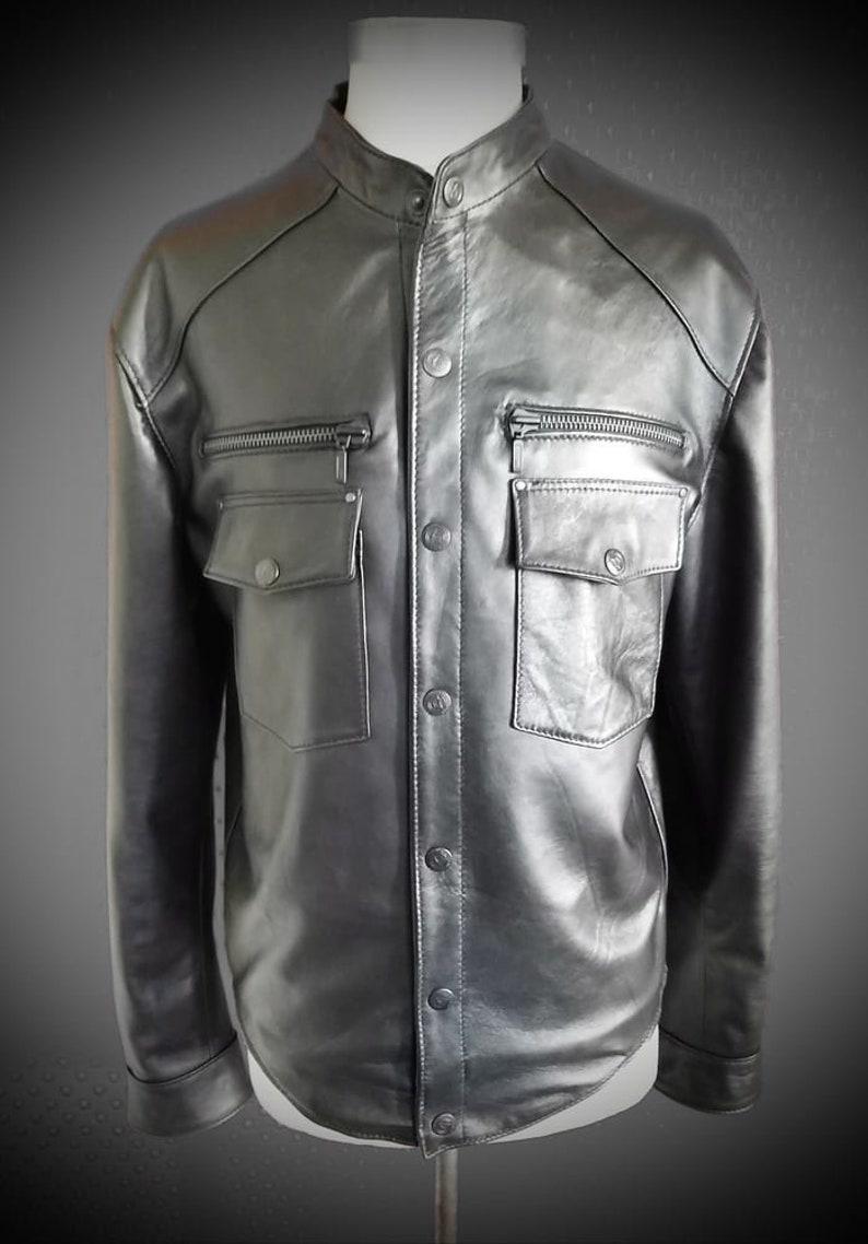 Black Star  Men's leather shirt by Pentagram image 0