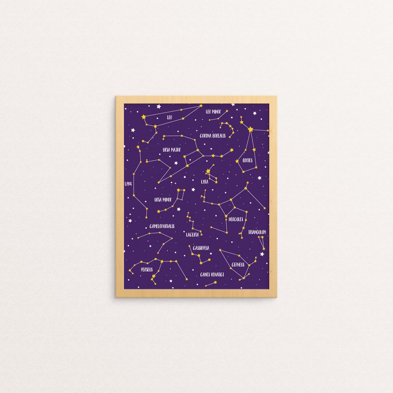 photograph regarding Constellation Printable identify Star Map Constellation Print Constellations Printable Room Nursery Decor Red Little ones Instance Gals Space Decor House Artwork
