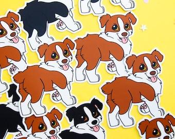 Australian shepherd bi color vinyl stickers