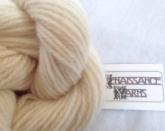 Recycled Wool Yarn, Reclaimed 3-ply Worsted Weight Yarn, 1,060 yds available @ 0.03/yd