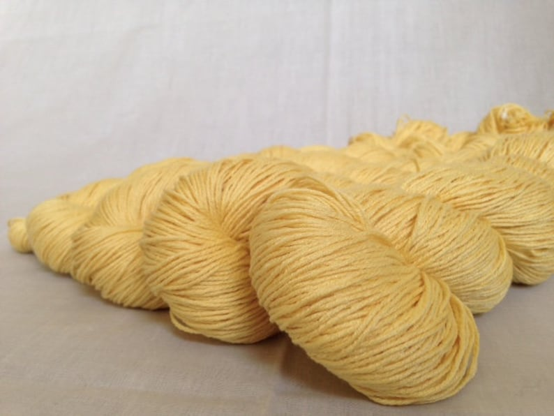 Recycled SilkCotton Yarn 274 yds available @ 0.02yd Reclaimed 18-ply Fingering Weight Yarn