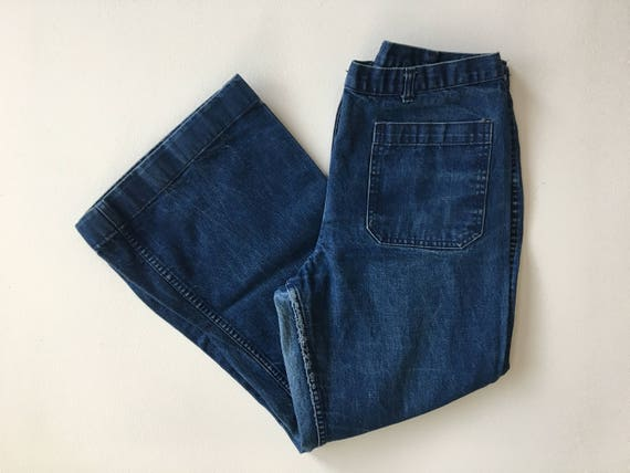 Vintage Denim Sailor Pants 33 x 27