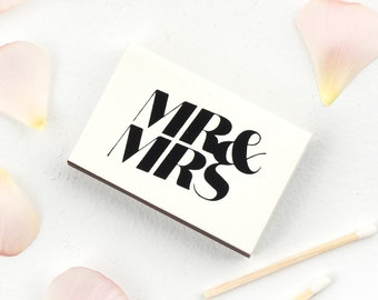 Custom MR & MRS Matchboxes - Wedding Favor Matches, Wedding Decor, Personalized Matches, Custom Matchboxes, Match Box Favors, Ampersand