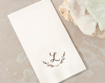 Initial Branch Guest Towels - Personalized - Hand Towel, Dinner Napkin, Custom Napkin, Hostess gift, Bridal Shower