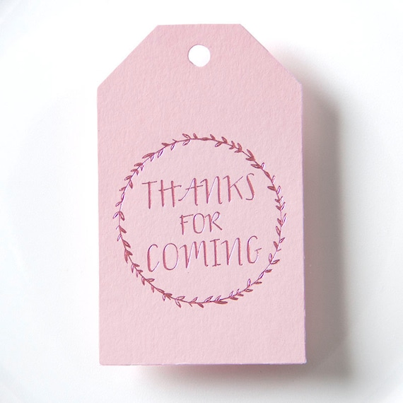 Thanks For Coming Gift Tags Wedding Favor Baby Shower Tag Etsy
