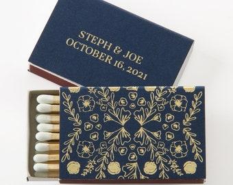 Custom Matchboxes Rose Pattern  - Wedding Favors, Wedding Matches, Wedding Decor, Personalized Matches, Custom Matchboxes, Match Box Favor