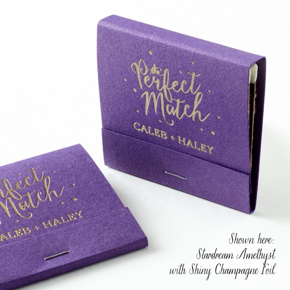 The Perfect Match W Polka Dots Matchbooks Wedding Favors Etsy