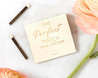 The Perfect Match  Matchbooks - Wedding Matchbook, Wedding Decor, Wedding Gift, Bridal Shower