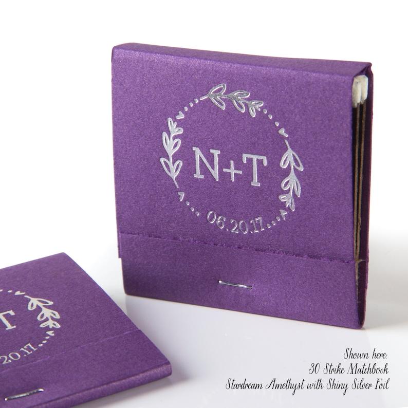 Bridal Shower Custom Wedding Matches Floral Date Wreath Initials Wedding Matchbook Wedding Decor Wedding Monogram Favor Wedding Gift