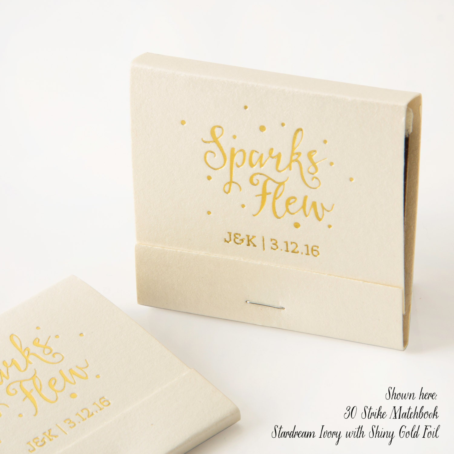 SPARKS FLEW Matchbooks Wedding Favors Wedding Matches