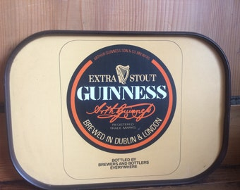 Collectable Guiness drinks tray in as new condition. 1960s/70s