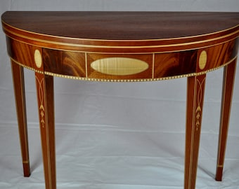 Federal Demilune Table