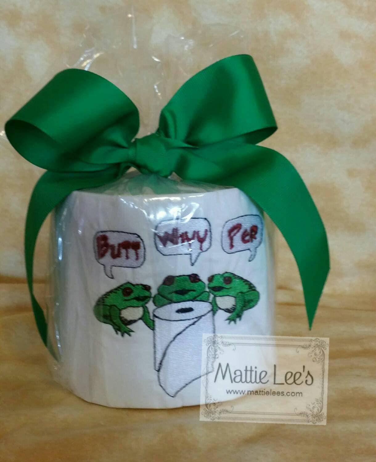 Monogrammiert Frosch Motiv Toilettenpapier Gag-Geschenk | Etsy
