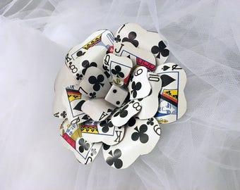 Single Playing Card Flower