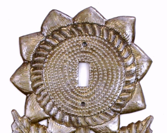 Light Plate Cover, Switch, Sunflower, Decorative Haitian Recycle Home Art