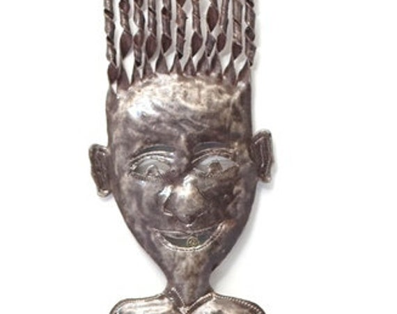 "Haiti Metal Folk art Girl 2 7"" x 41"""