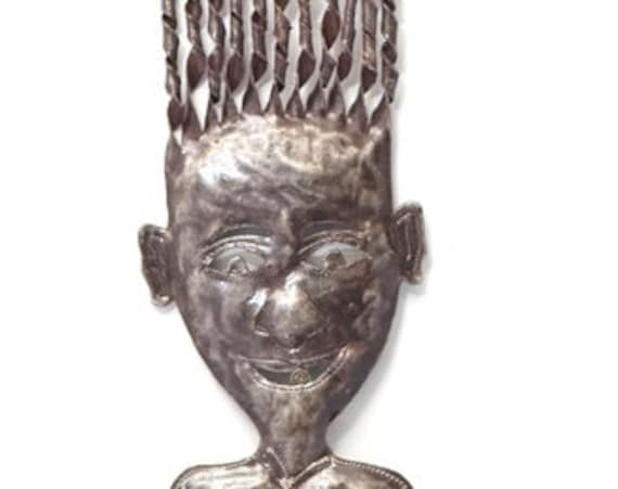 "Haiti Metal Folk art Girl 2 7"" x 41"""