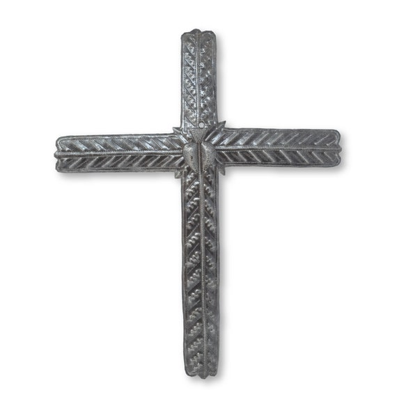 Simple Cross Handcrafted in Haiti, Limited Edition Handcrafted Art, 15x18