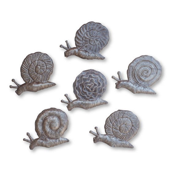 Slow & Steady Snails Handmade in Haiti Perfect for Garden Decor, One-of-a-Kind Bundle